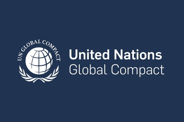 Member of United Nations Global compact, globe, support